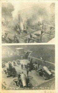 Battery of Mortars Moser C-1918 WW1 Military RPPC Photo Postcard 7633