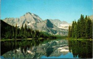 CHROME Postcard Glacier National Park Lake Josephine LAKE MT GOULD PC