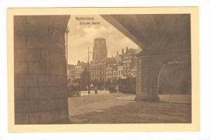 Rotterdam, Netherland, Groote Market 1910s