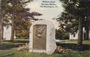 Vermont Bennington William Lloyd Garrison Marker Old Bennington