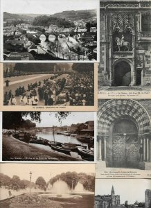 France Lourdes Nantes Blois Paris And More Postcard Lot of 22 01.04
