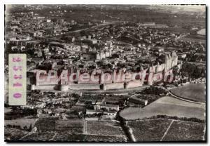 Postcard Modern Carcassonne Cite View Aerienne