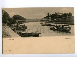 147235 UK England CHESTER the dee ships Vintage 1902 postcard