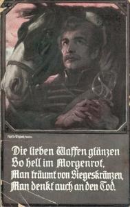 Die lieben Waffen glänzen so hell im Morgenrot Postcard. 02.74