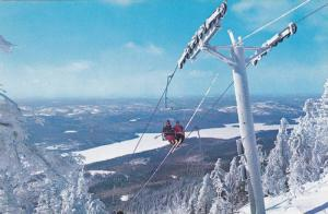 Skiing , The Double Chair Lift , Mont Tremblant , Quebec , Canada , 40-60s