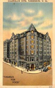 West Virginia Parkersburg Chancellor Hotel 1941