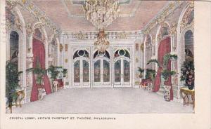 Pennsylvania Philadelphia Crystal Lobby Keith's Chestnut Saint Theater 1908