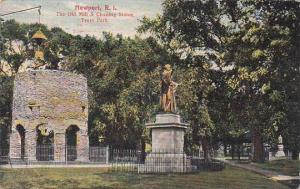 Rhode Island Newport The Old Mill & Chaning Statue Truro Park 1909