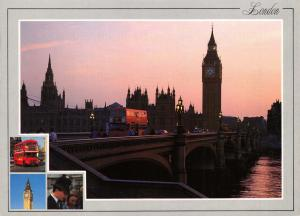 High Quality Large Format Postcard, Houses of Parliament at Night, London (K1)