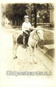 Donkey Ride Real Photo Postcard Postcards  Donkey Ride