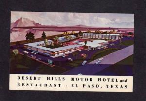 TX View Desert Hills Motor Hotel Motel EL PASO TEXAS