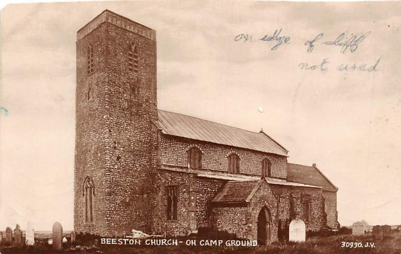 Beeston St. John the Baptist Church on Camp Grounds, real photo 1928