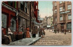 Boston MA~North Square Little Italy~Hotel Rome~Giordano Meat Market~Cafe~1911