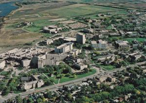 Aerial View of the University Of Saskatchewan Campus, SASKATOON, Saskatchewan...