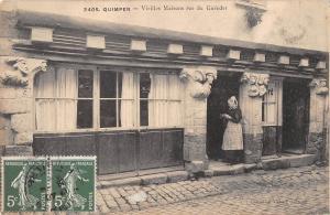 BR78317 quimper vieilles maisons rue du gueodet  france