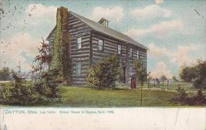 Ohio Dayton Log Cabin Oldest House In Dayton Built 1796