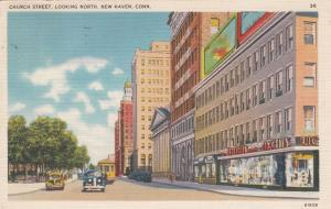 NEW HAVEN, Connecticut, PU-1940; Church Street, Looking North