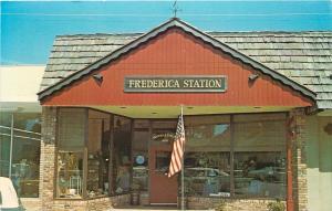 St Simons Island Georgia~Frederica Station Gift Shoppe Close Up~Open~1960s