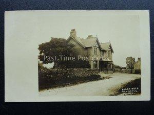 Lancashire Clitheroe Rimington THE BLACK BULL INN c1917 RP Postcard by E. Buck