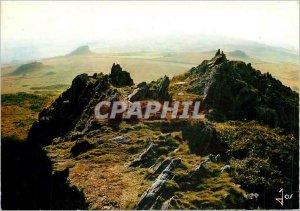 Modern Postcard Les Monts d'Arree Sunset Sir ridges