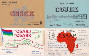 Banjul Gambia 4x Vintage Amateur Radio African QSL Card s