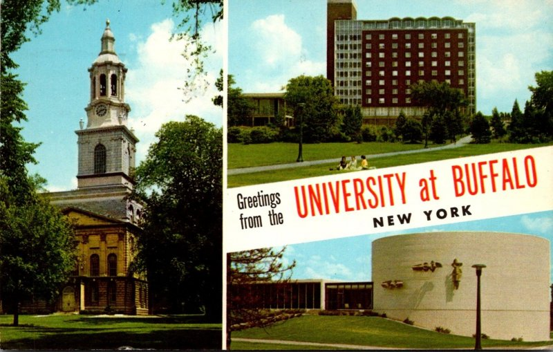 New York Greetings From The University Of Buffalo 1962