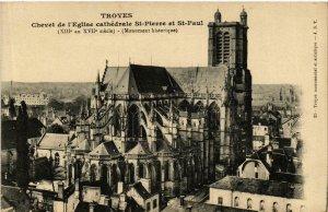 CPA Troyes- Chevet de l'Eglise Cathedrale St Pierre&St Paul FRANCE (1007868)