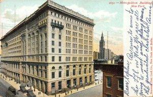 Metropolitan Life Building, Manhattan, New York, Early Postcard, Used in 1906