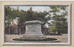 Maine Portland Henry W Longfellow Monument