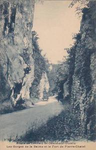 Route de Yenne a St.Genix-sur-Guiers Les Gorges de la Balme et le Fort de Pie...