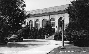 Appleton Wisconsin~Lawrence College~Alexander Gymnasium~1940s Cars~RPPC