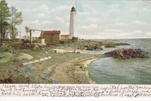 Old Lighthouse New Haven Connecticut 1907