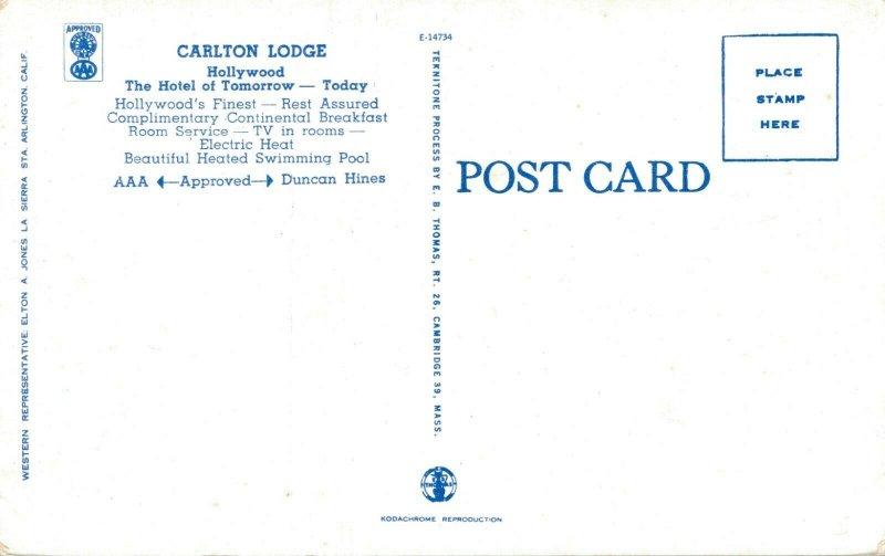 USA California Hollywood Carlton Lodge 04.24