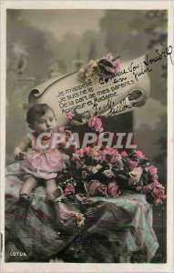 Old Postcard My name Child
