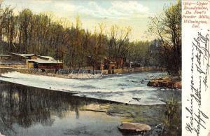 Wilmington Delaware Du Ponts Powder Mill Brandywine Antique Postcard K33482