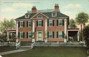 Postcard Cambridge Massachusetts Home Of Longfellow
