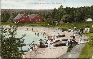 Silver Island Summer Resort Lake Superior Sibley Ontario c1914 Postcard F33