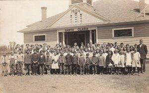 Vintage Real Photo Postcard AZO RPPC Santa Clara California Grade School 1904-18