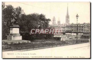 Old Postcard Rouen By the statue of Cornelius (advertising the shoe d & # 21 ...