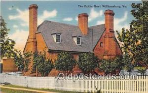 Public Goal Williamsburg, Virginia USA Prison Postcard Post Card Williamsburg...