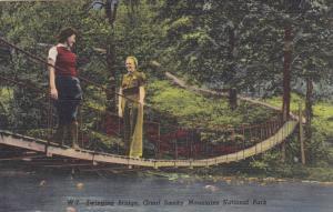 Swinging Bridge , Great Smoky Mountains National Park , 30-40s