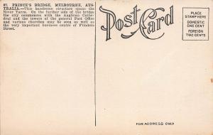 Prince's Bridge, Melbourne, Australia, Early Postcard, unused