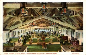 Yellowstone National Park Grand Canyon Hotel Lounge From Office Haynes Photo