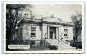 Postcard Wheeler Memorial Library, Orange MA 1913 G32