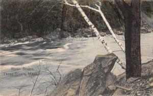 Three Rivers Massachusetts River Scene Vintage Postcard JA454612