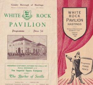 White Rock Pavillion Theatre Hastings Barbara of Seville 2x Opera Programme