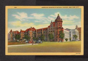 NY American Museum of Natural History Animals New York City NYC Postcard Linen