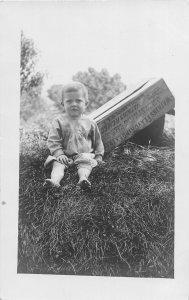 F45/ Interesting RPPC Postcard c1910 Watkins Flavoring Box Winona Minnesota Kid
