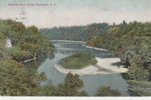 Island in Genesee River Gorge - Rochester, New York - DB