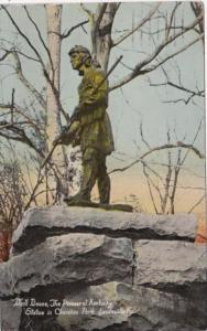 Kentucky Louisville Daniel Boone The Pioneer Of Kentucky Statue In Cherokee P...